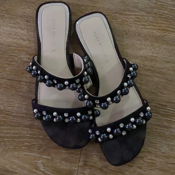 Zara Beaded Sandals
